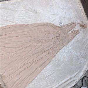 Summer backless dress